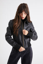 Load image into Gallery viewer, Heroes Leather Jacket-Black Leather