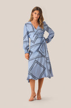 Load image into Gallery viewer, Isa LS Wrap Dress-Pale Iris