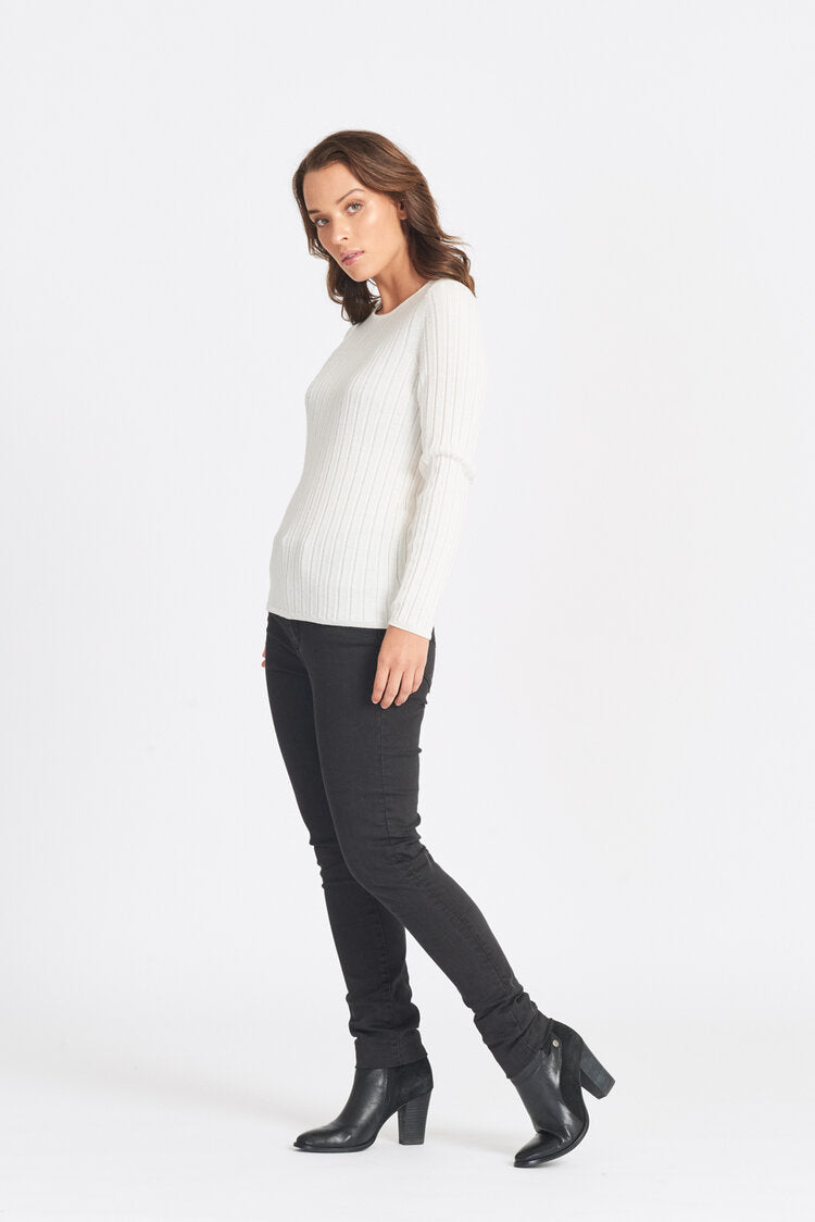 Long Sleeved Wide Rib Crew