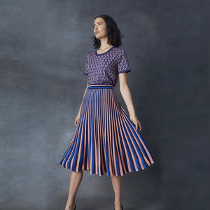 Metallic Stripe Skirt