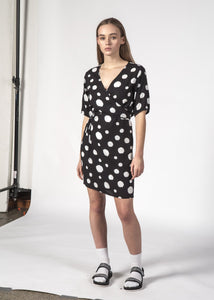 Blossom Dress Black Dotty