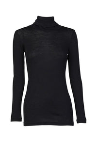 Babywool Rib Turtle Neck-Black