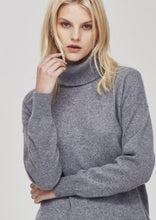 Load image into Gallery viewer, Hemingway Cashmere Roll Neck-Charcoal Marle