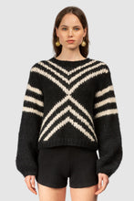 Load image into Gallery viewer, Comodo Bell Sleeve Knit- Noir/Creme