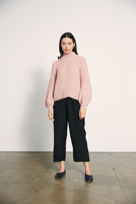 Mimi Jumper-Textured Pink