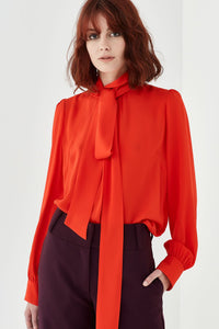 Bowie Blouse-Persimmon