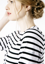 Load image into Gallery viewer, Galathee 11 Nautical striped top Neige & Noir
