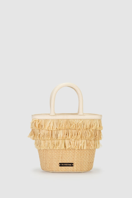 Blanca Raffia Fringe Mini Bag-Natural