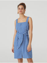 Load image into Gallery viewer, Blue Vichy Dress