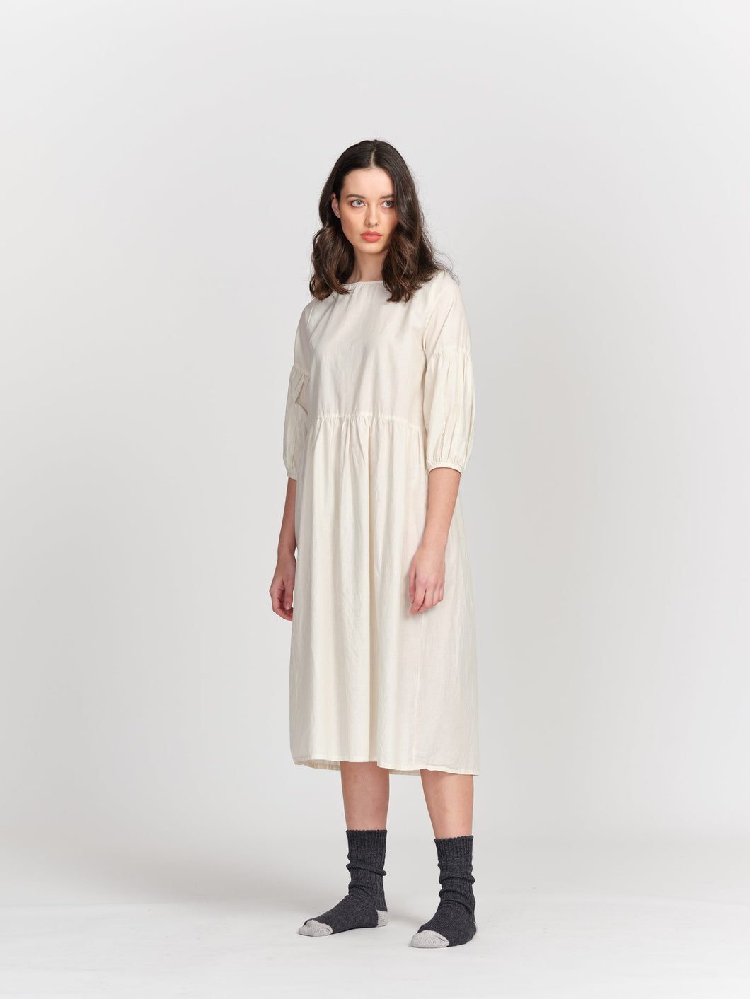 Bebe Dress-Creme Organic Cotton