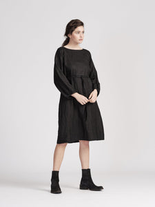 Smith Dress-Black Linen