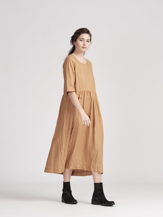 Vivian Dress-Honey Bee Linen