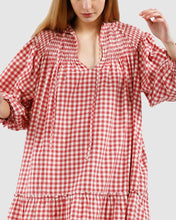 Load image into Gallery viewer, Olivia Tunic-Wine Check