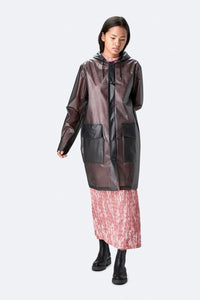 Hooded Coat-Foggy Black