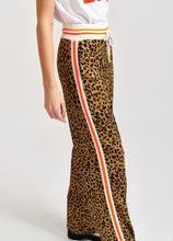 Load image into Gallery viewer, Vamo-Leopard Print Trackpants Cashew Nut