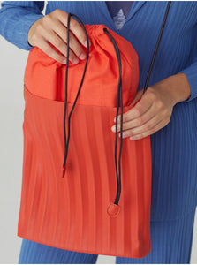 Cross Body Pleated Bag-Coral
