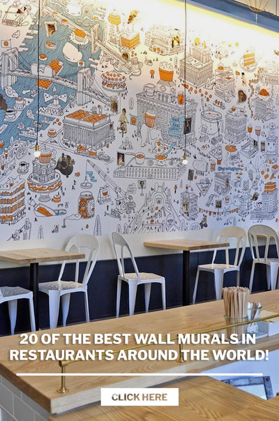 20 of the best wall murals in restaurants around the world! (Updated List)