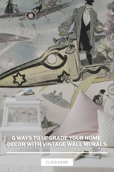 6 ways to upgrade your home decor with vintage wall murals