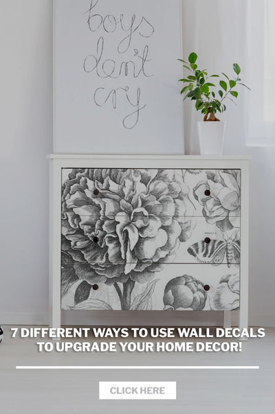 7 Different ways to use wall decals to upgrade your home decor!