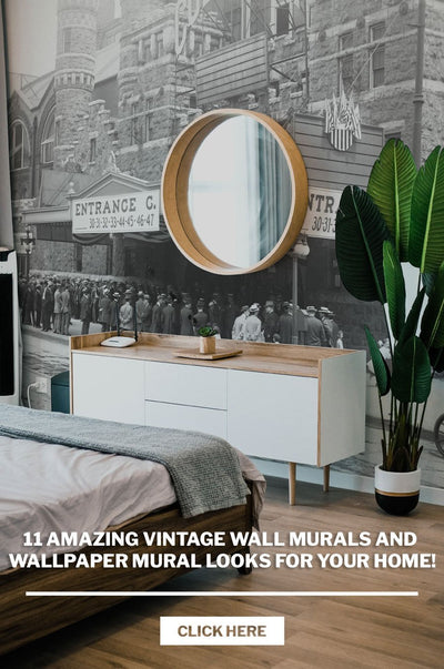 11 Amazing Vintage Wall Murals and Wallpaper Mural looks for your home!