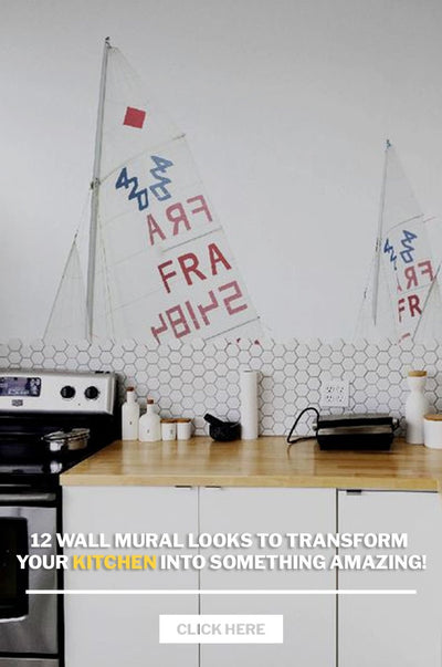12 Wall Mural looks to transform your kitchen into something amazing!