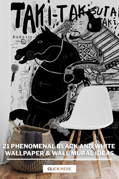 21 Phenomenal Black and White Wallpaper & Wall Mural Ideas