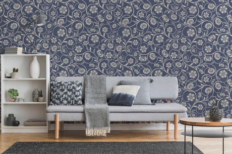 Flower Vines Wallpaper Mural, eazywallz.eu
