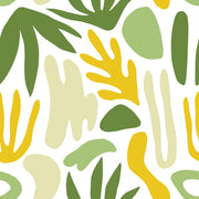 Yellow and Green Shapes of Nature Wallpaper