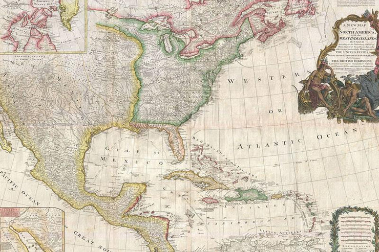 1794 Original Map of North America Wall Mural-Maps-Eazywallz