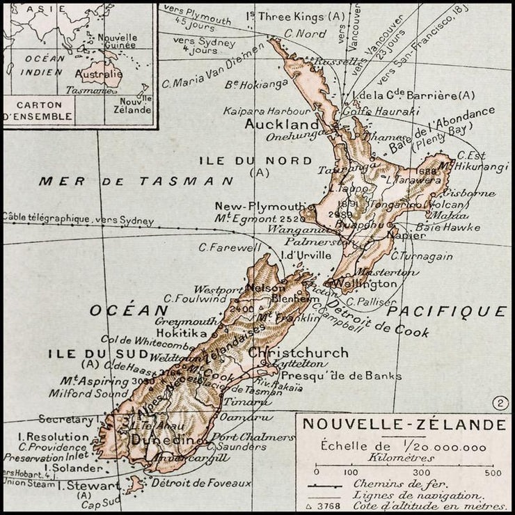 1894 Map of New Zealand Wall Mural-Maps-Eazywallz