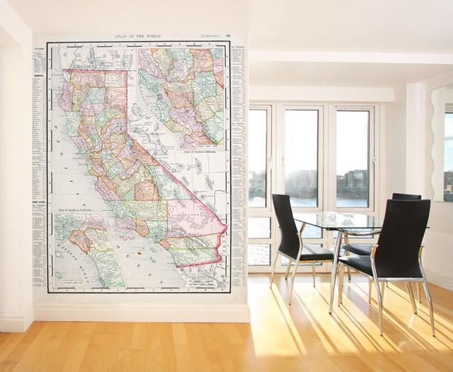 1900 Map of California Wall Mural-Maps-Eazywallz