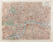 19th Century Map of London Wall Mural-Maps-Eazywallz