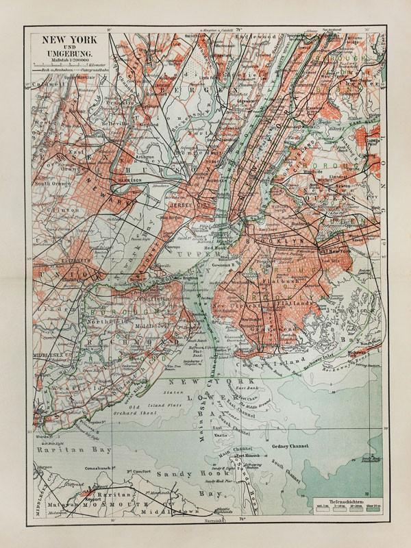 19th Century New York Map Wall Mural-Maps,Featured Category-Eazywallz