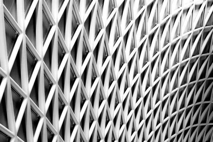 King's Cross Abstract Architecture Wall Mural