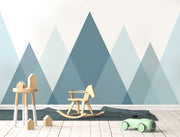 Mystic Mountain Tops Wallpaper Mural