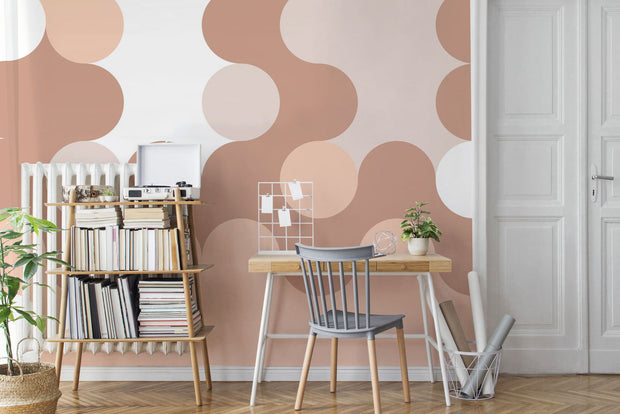 Blush Glass Wallpaper Mural
