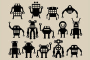 A team of robots 2 Wall Mural-Kids' Stuff,Modern Graphics-Eazywallz