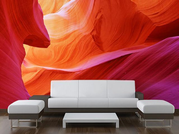 Abstract Antelope Canyon Mural-Abstract,Buildings & Landmarks,Landscapes & Nature,Textures,Best Rated Murals-Eazywallz
