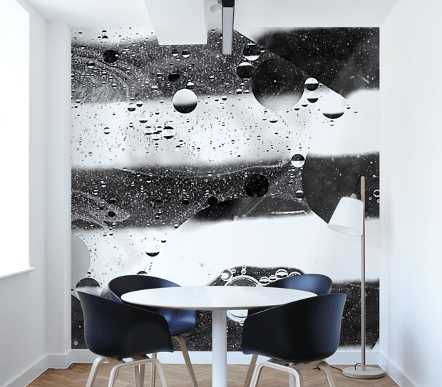 Abstract Black And White Soap Bubble-Abstract-Eazywallz