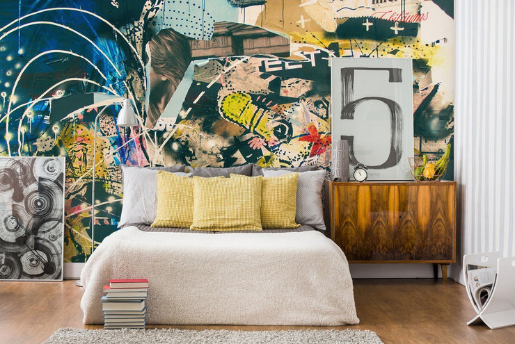 Abstract Graffiti Art Wall Mural-Urban,Textures,Modern Graphics-Eazywallz