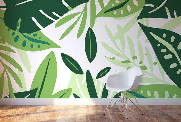 Abstract Jungle Wall Mural-Landscapes & Nature-Eazywallz