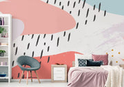 Abstract Memphis Mural Wallpaper-Abstract-Eazywallz