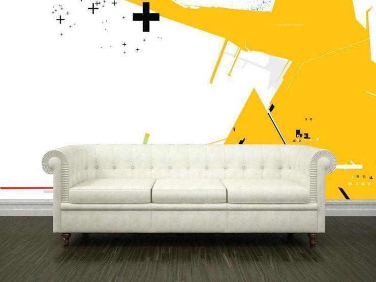 Abstract techno background Mural-Abstract,Modern Graphics-Eazywallz