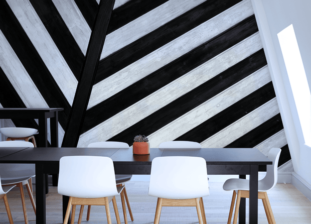 Abstract Wood Texture Mural-Abstract,Black & White,Textures-Eazywallz