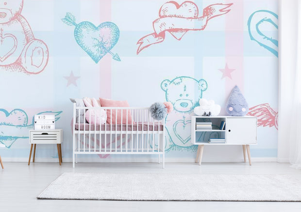 Little Baby Bear Wallpaper Mural