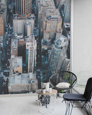 Aerial View of the Metropolitan Wall Mural-Cityscapes-Eazywallz