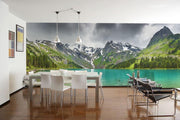 Altai Mountain Lake Wall Mural-Landscapes & Nature,Panoramic-Eazywallz