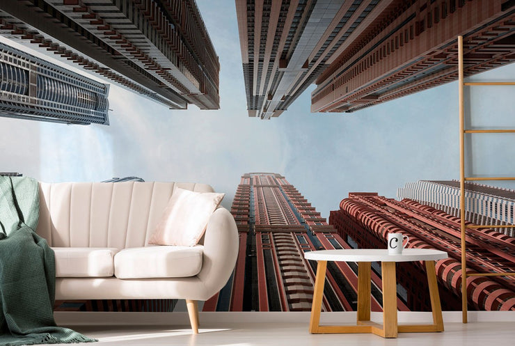 Contemporary High Rise Buildings Wall Mural-Buildings & Landmarks-Eazywallz