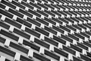 Architecture Perspective Building Mural-Abstract,Black & White,Buildings & Landmarks,Urban-Eazywallz