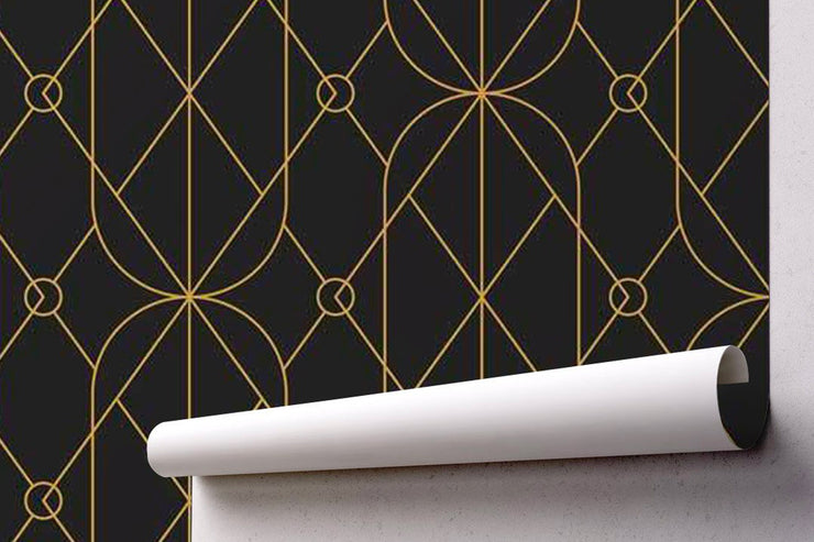 Chandelier Art Deco Wallpaper